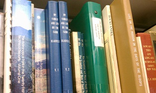 Part of the local history collection at Blauvelt Free Library