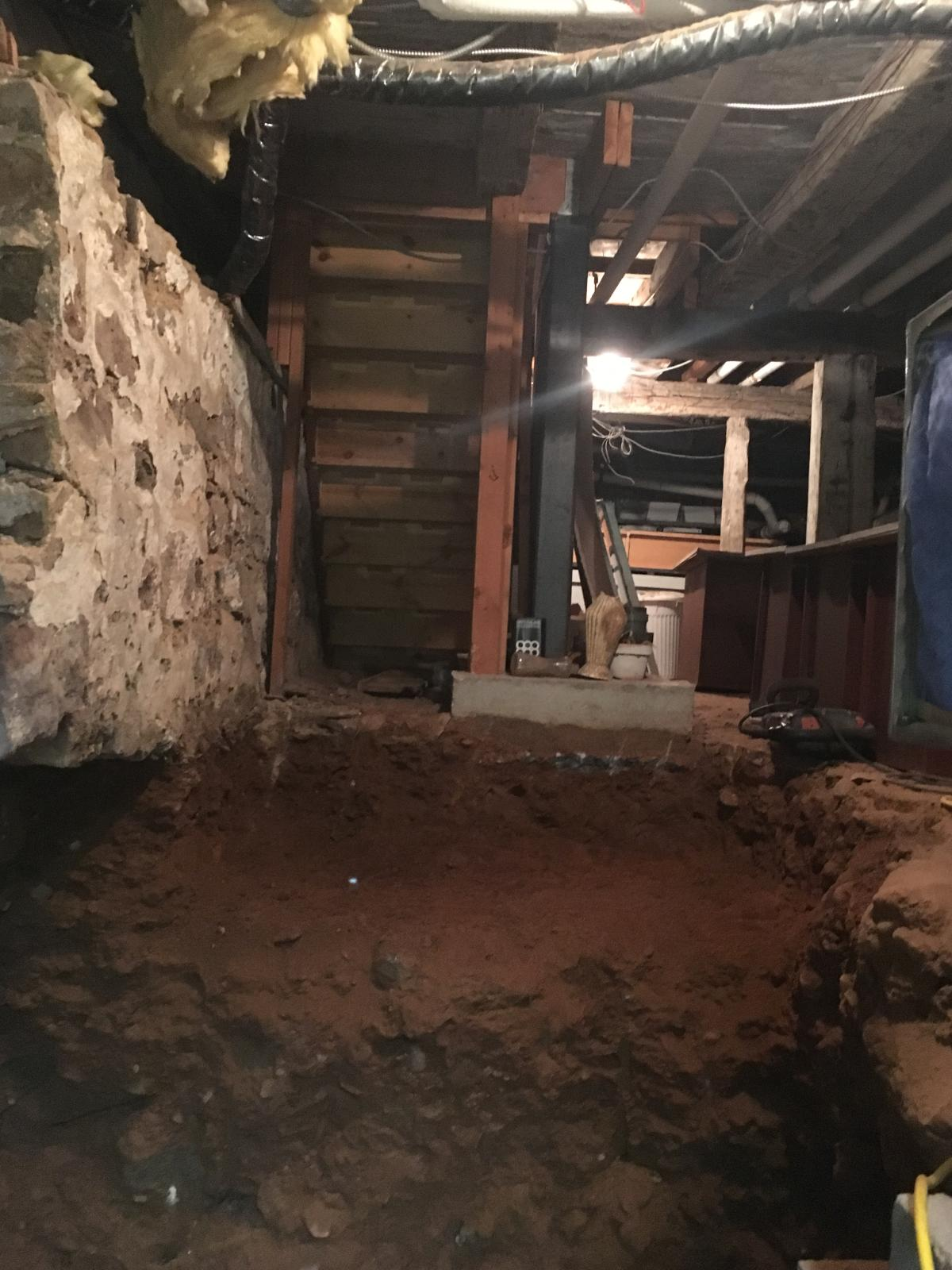 Basement site for new staircase from main floor